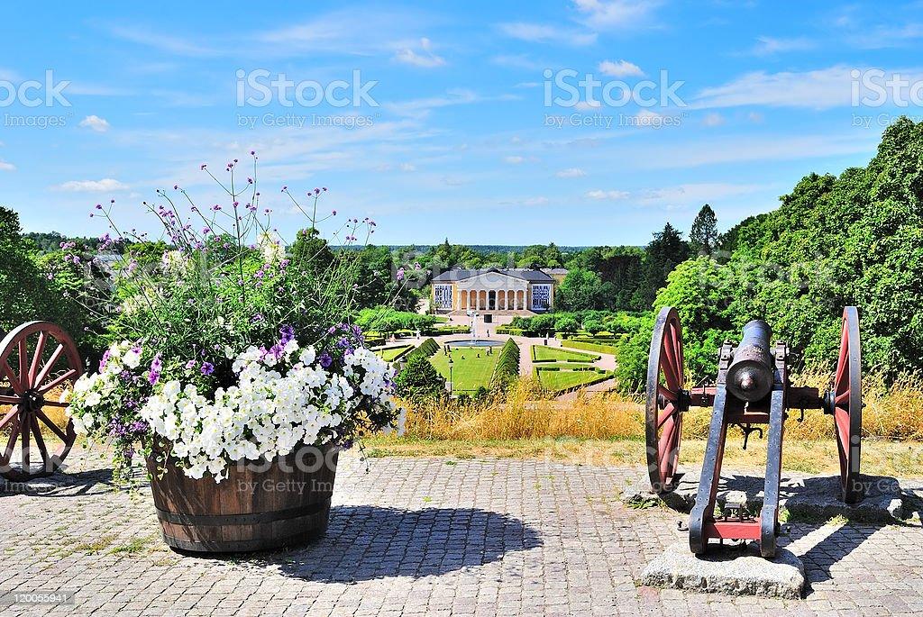 Uppsala, Sweden. View of  Botanic Garden stock photo