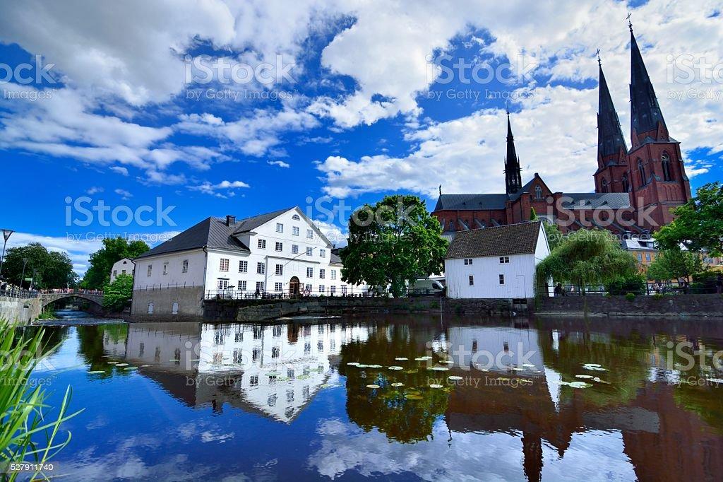 Uppsala University City stock photo