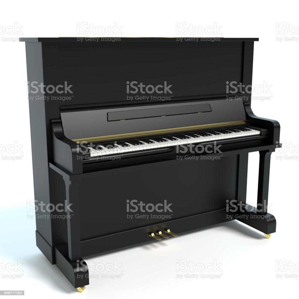 Upright Piano - Lizenzfrei Aufrecht stehendes Klavier Stock-Foto