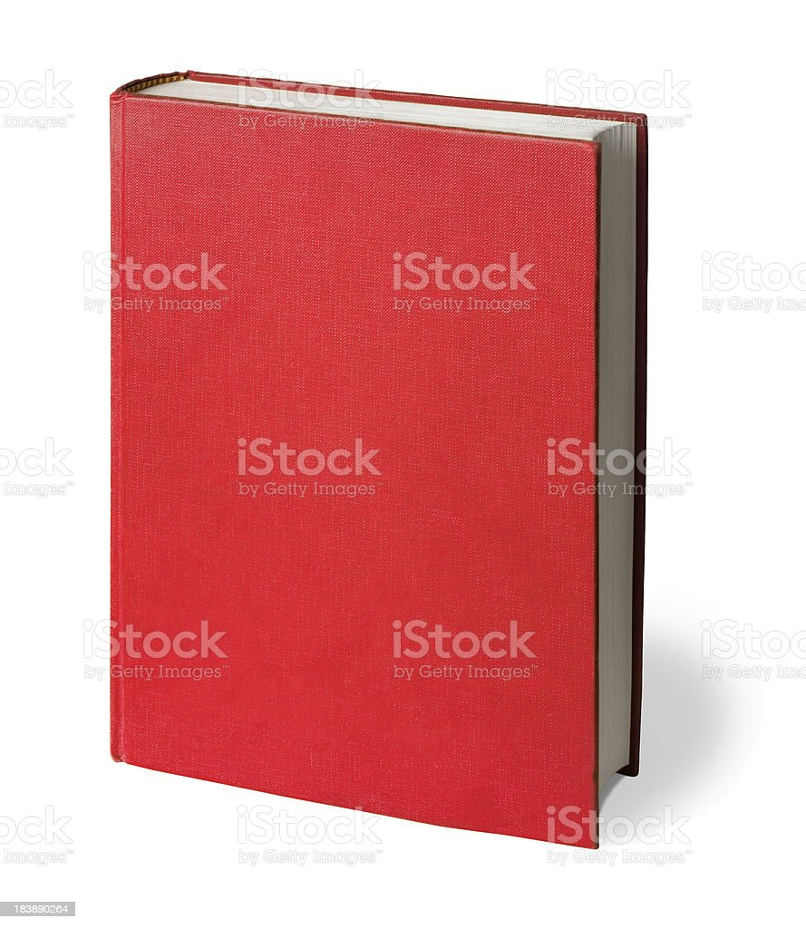 Upright Red Book with Clipping Path royalty-free stock photo