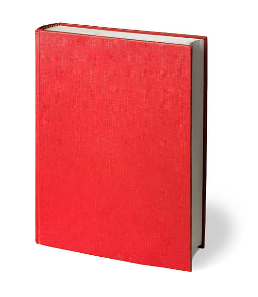 Upright Red Book with Clipping Path stock photo