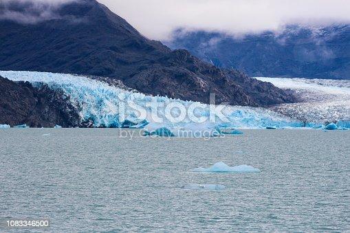 Upsala Glacier at Argentino Lake, Los Glaciares National Park, Patagonia, Argentina