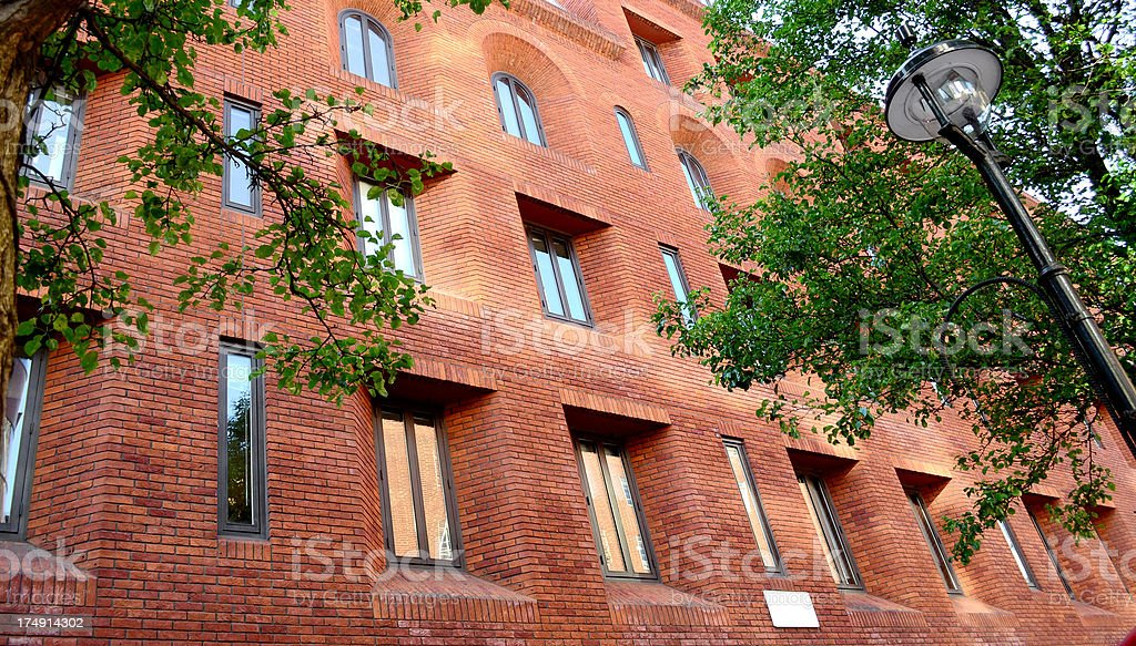 upscale apartment building royalty-free stock photo