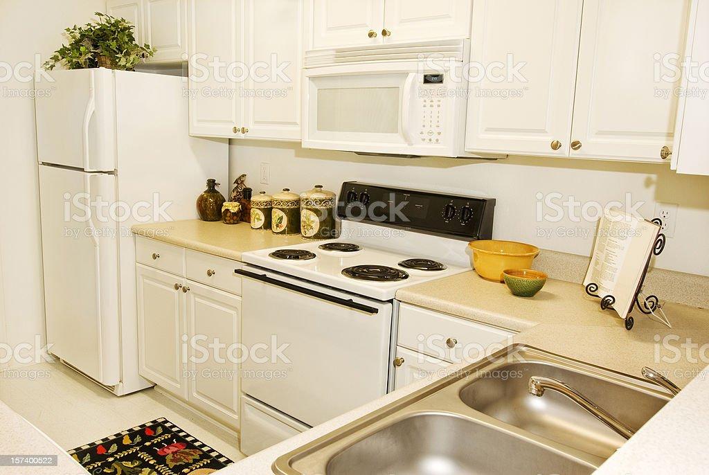 Upscale Apartment Kitchen royalty-free stock photo