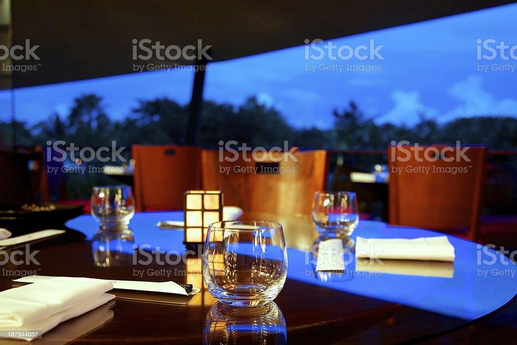 Upscale Asian Restaurant royalty-free stock photo