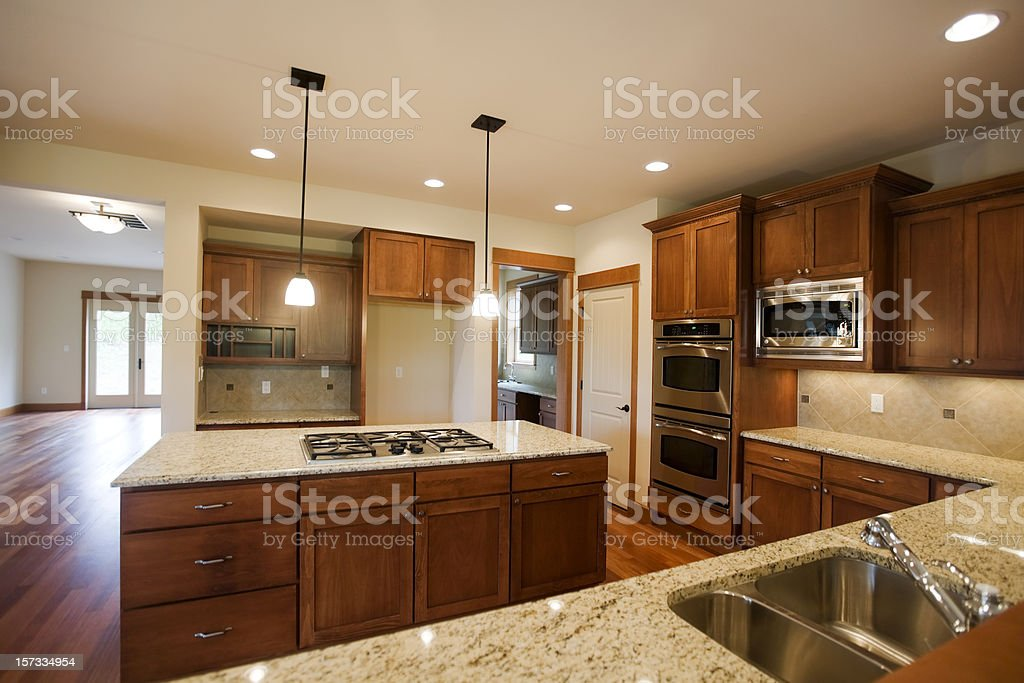 Upscale custom Kitchen royalty-free stock photo