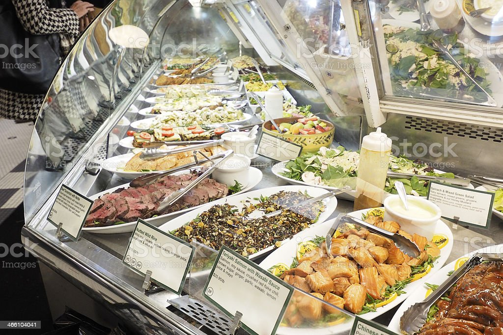 Upscale Deli Case stock photo