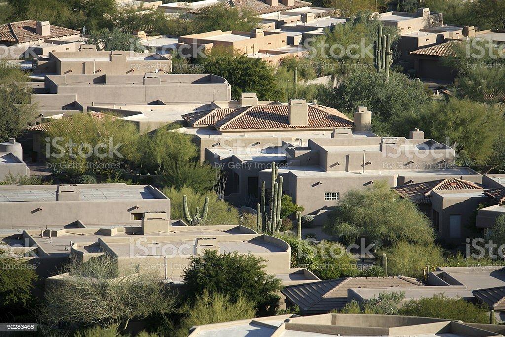 Upscale Desert Homes royalty-free stock photo