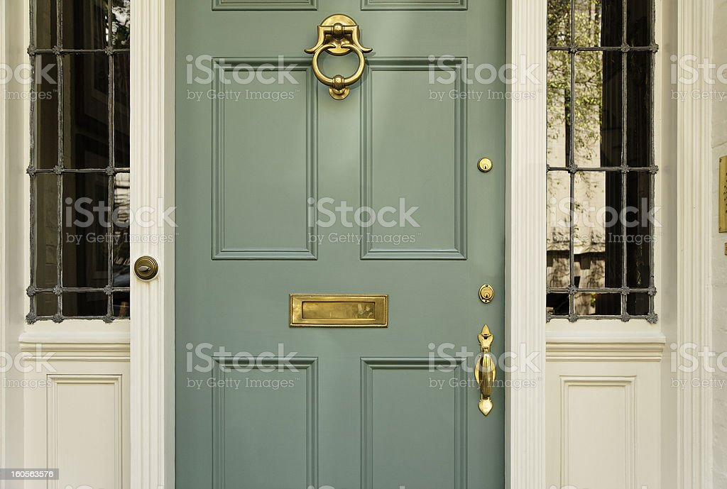 Upscale Home Front Door stock photo