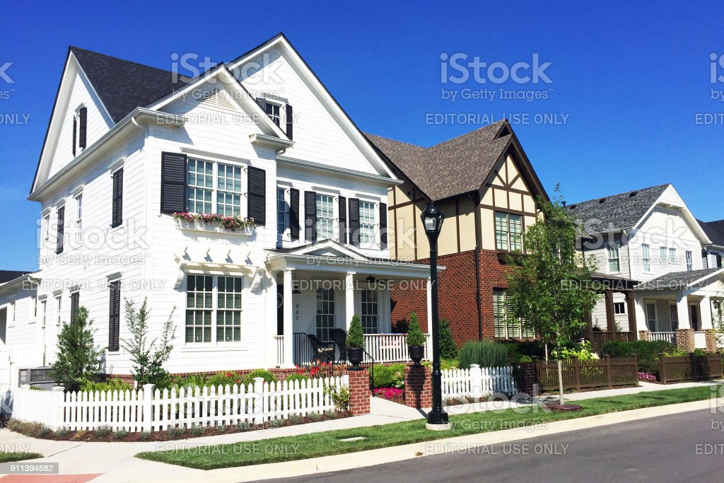 Upscale homes stock photo