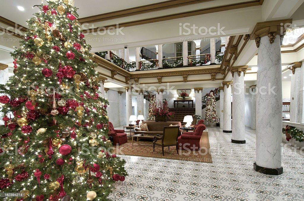 Upscale Hotel Lobby stock photo
