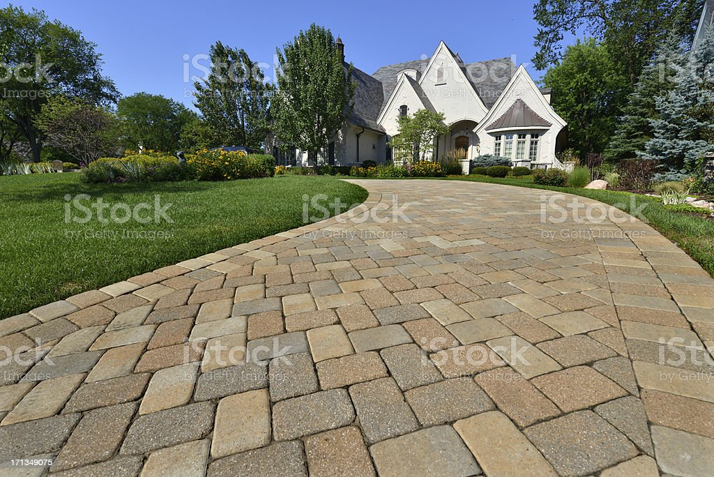 Upscale House stock photo