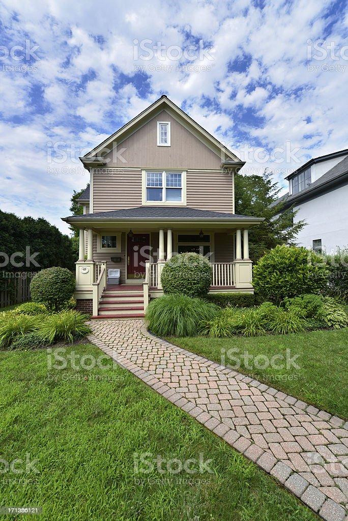 Upscale House stock photo