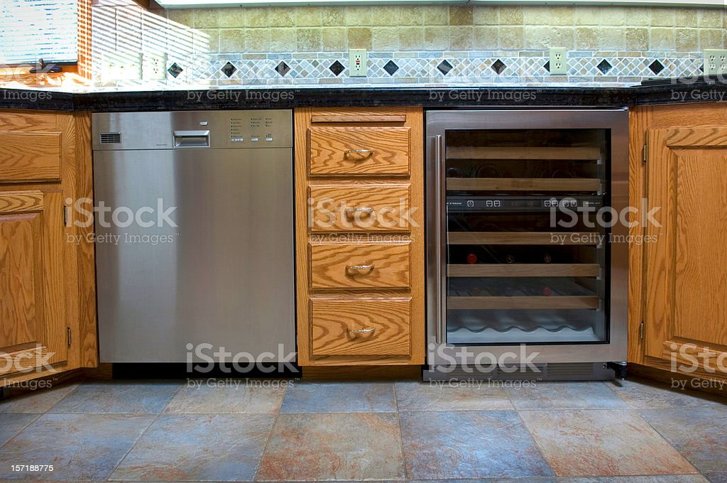 upscale kitchen stock photo
