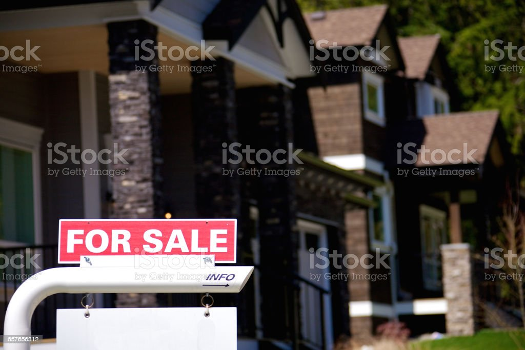 Upscale modern house for sale Upscale modern house for sale Architecture Stock Photo