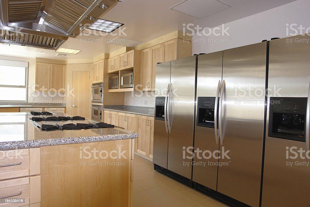 Upscale Modern Iron Chef Kitchen royalty-free stock photo