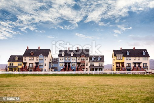 493502515 istock photo Upscale, Modern Townhome Apartments Complex 521986788