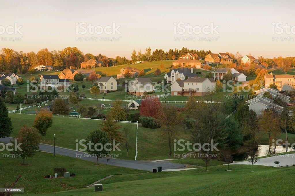 Upscale neighborhood, Morgantown, W.V. stock photo