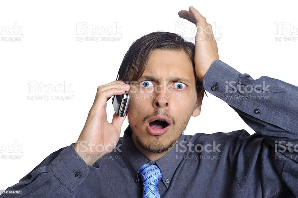 Upset business man royalty-free stock photo