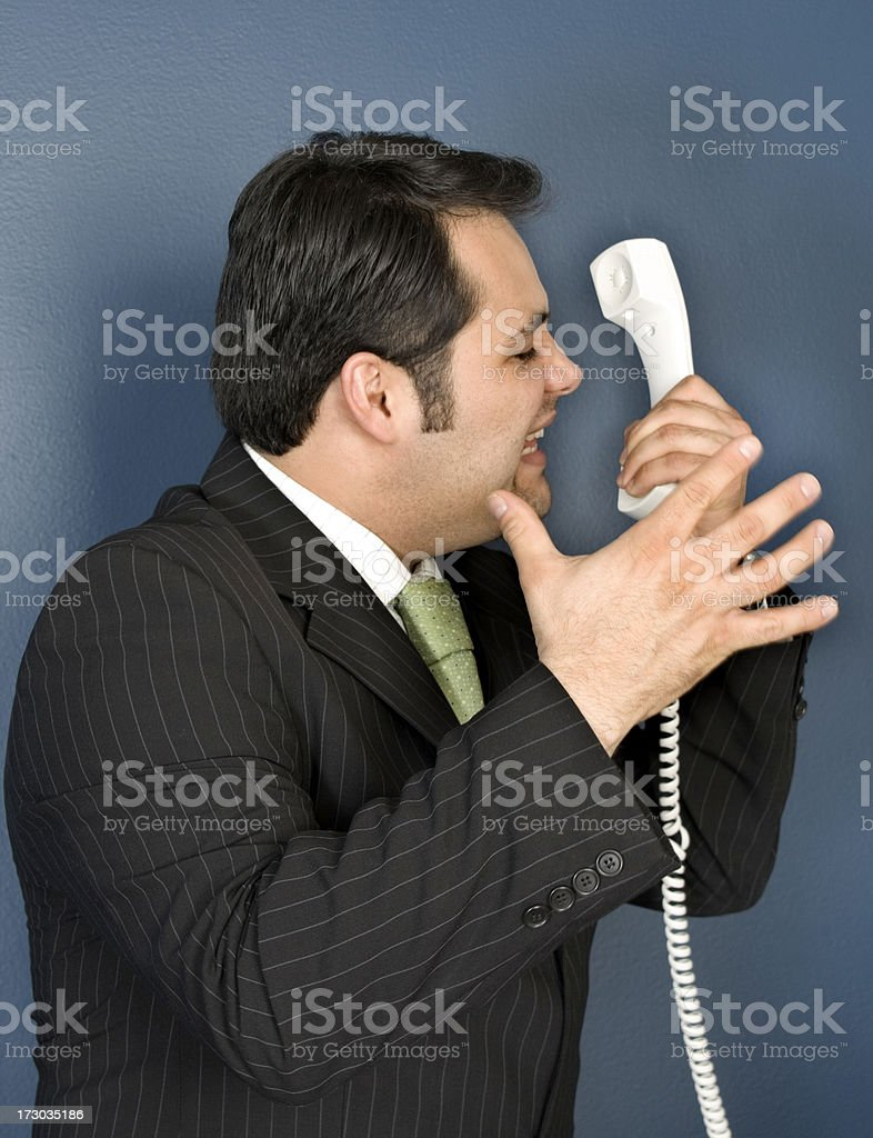 upset businessman stock photo