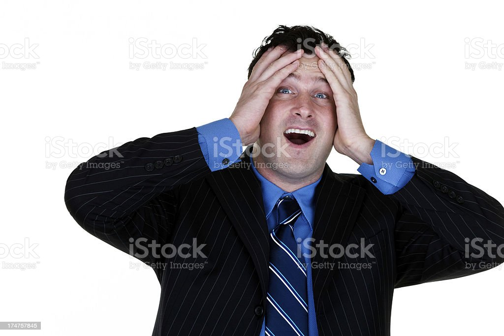Upset businessman royalty-free stock photo