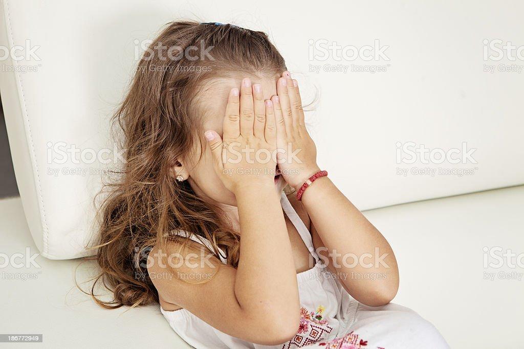 Upset child royalty-free stock photo