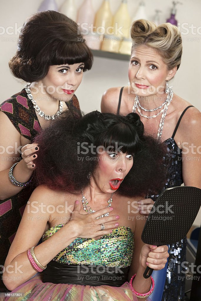 Upset Female in Beauty Parlor royalty-free stock photo