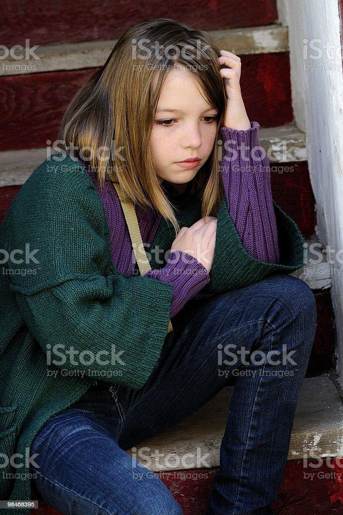 upset girl thinking royalty-free stock photo