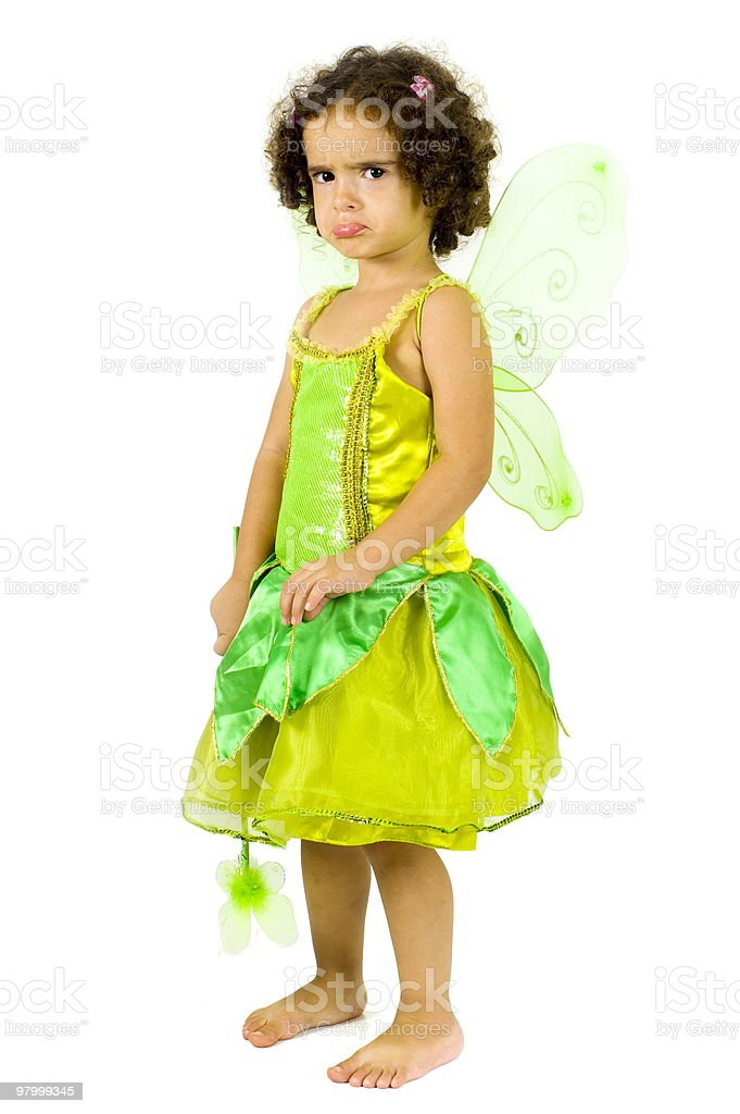 Upset Green Fairy royalty free stockfoto