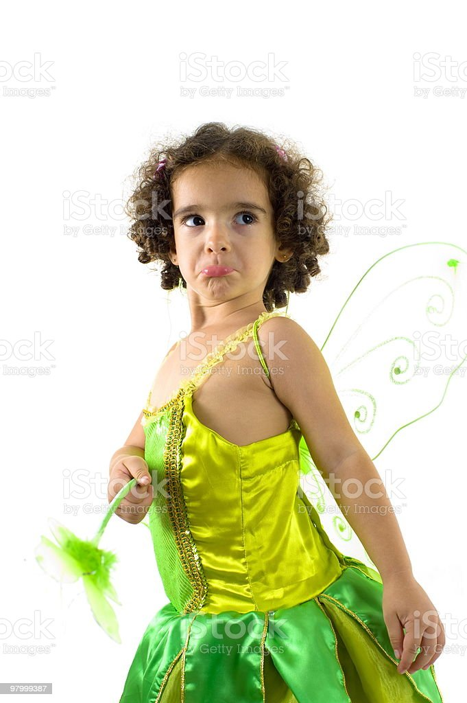 Upset Green Fairy royalty-free stock photo
