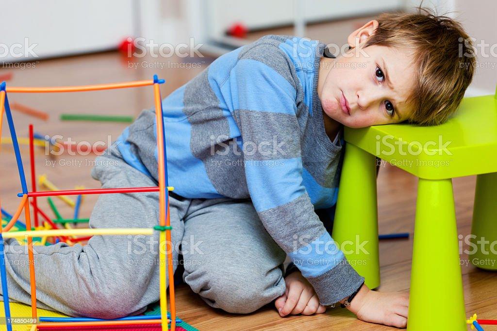 Upset little boy royalty-free stock photo