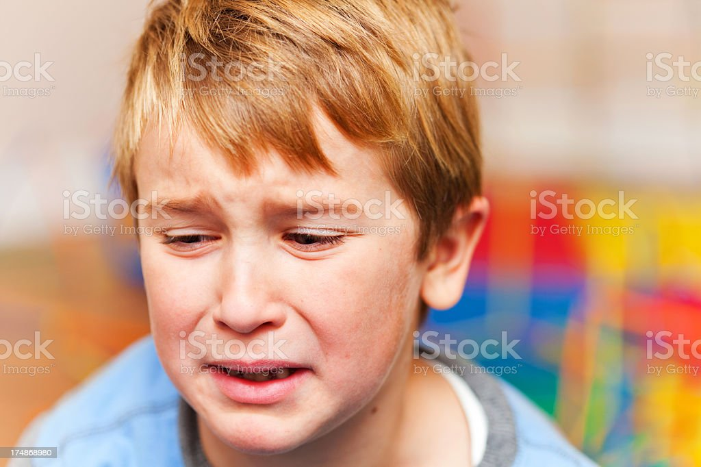 Upset little boy royalty-free stock photo