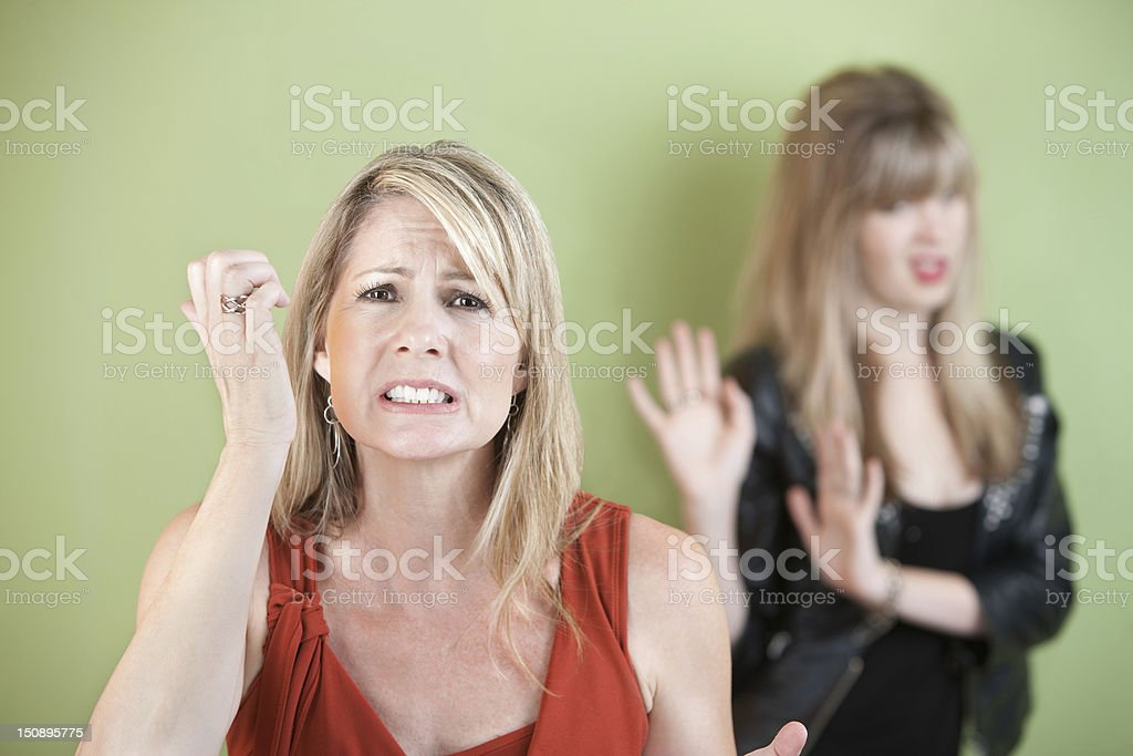 Upset Mother and Daughter royalty-free stock photo