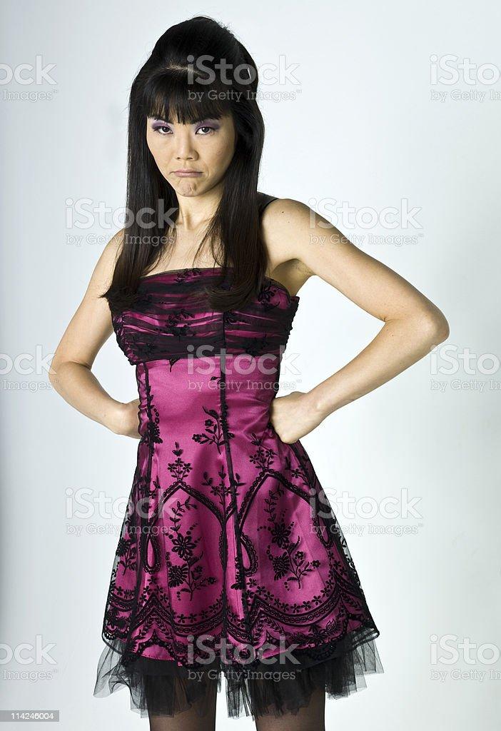 Upset Oriental Woman royalty-free stock photo