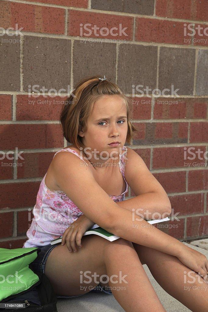 Upset School child royalty-free stock photo