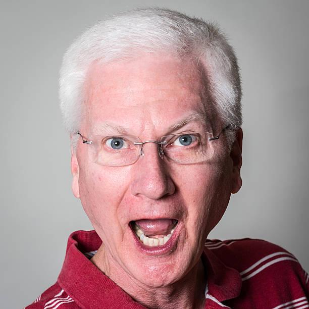 Upset Senior Man (real people) stock photo