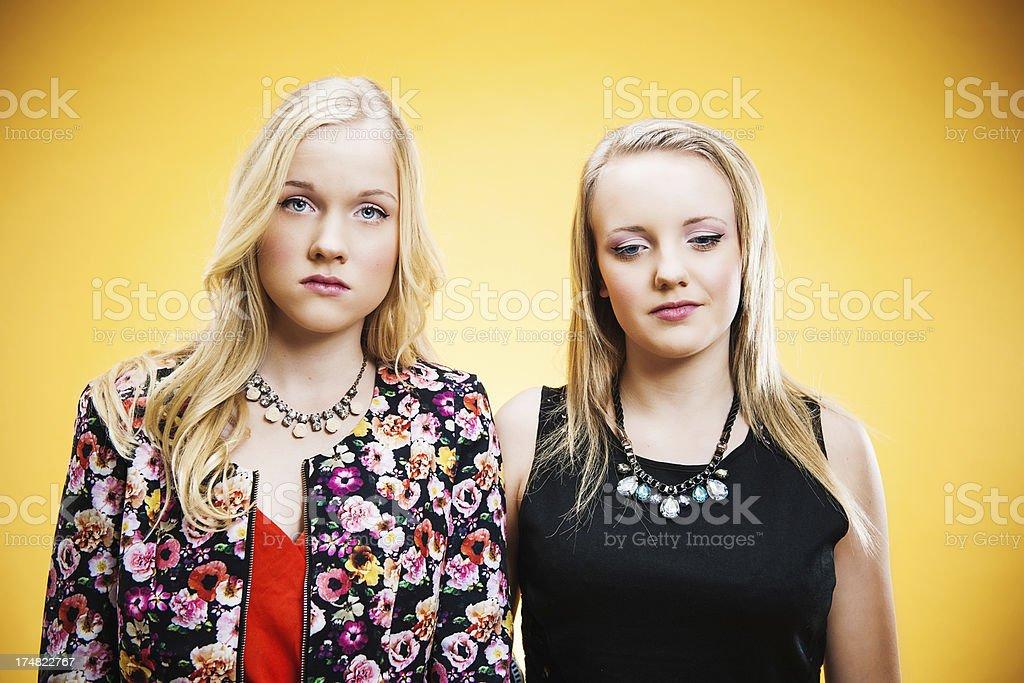 Upset teenagers royalty-free stock photo