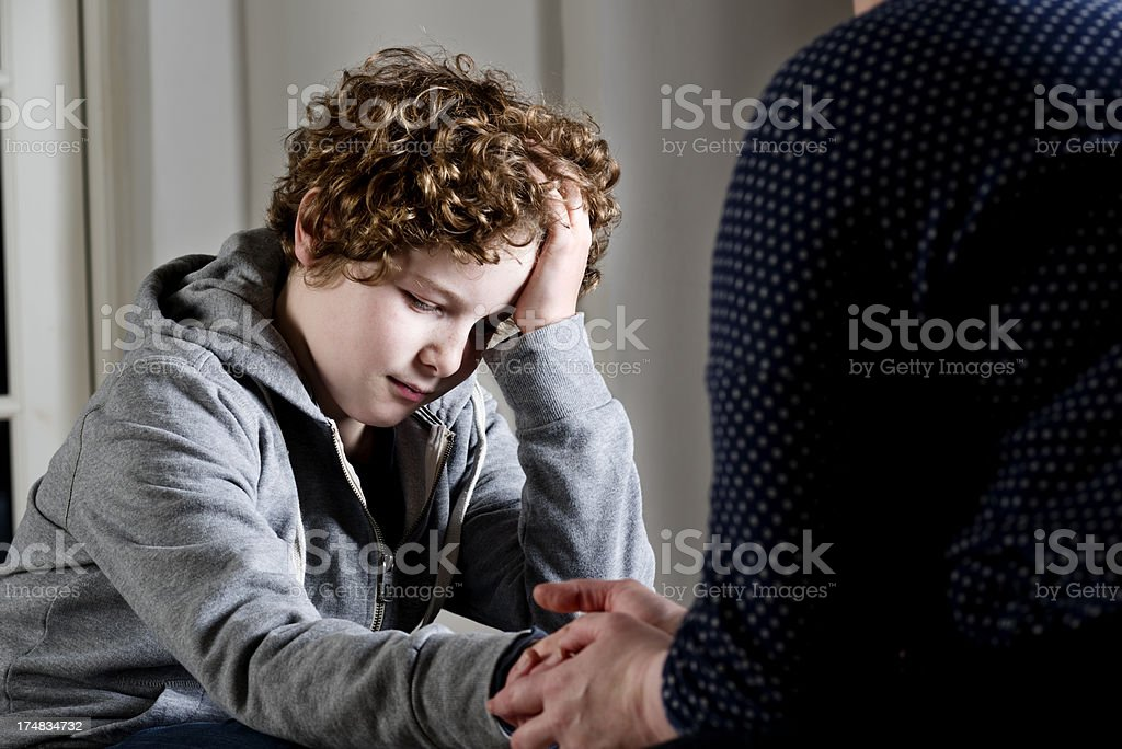 Upset Young Boy royalty-free stock photo