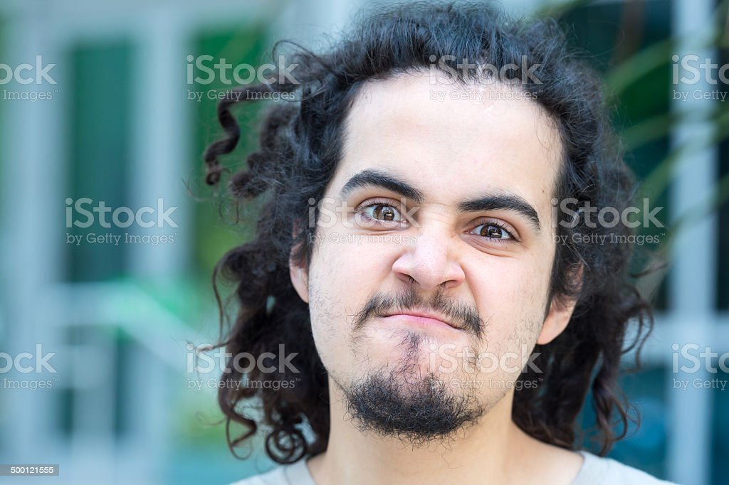 Upset Young man royalty-free stock photo