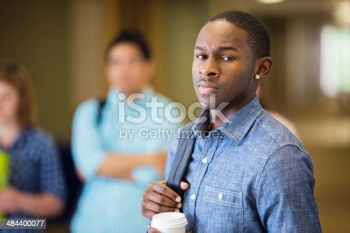 istock Upset young student on campus 484400077