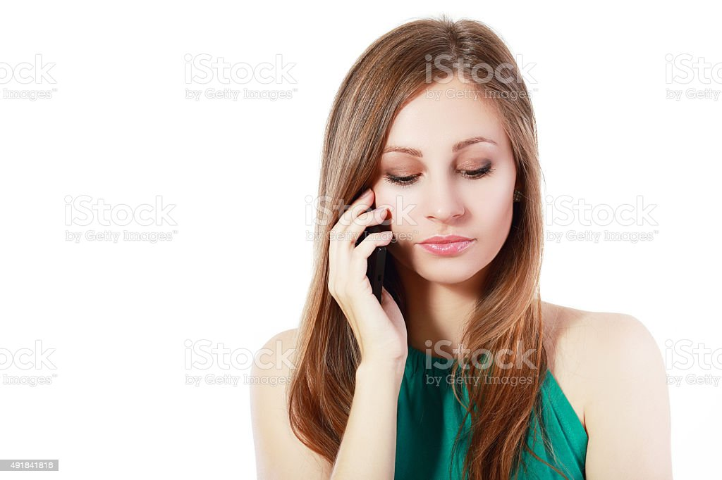 upset young woman stock photo