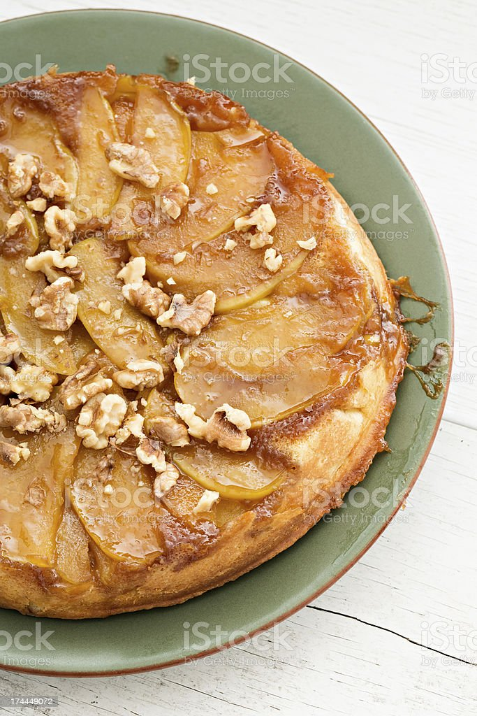 Upside Down Apple Cake stock photo