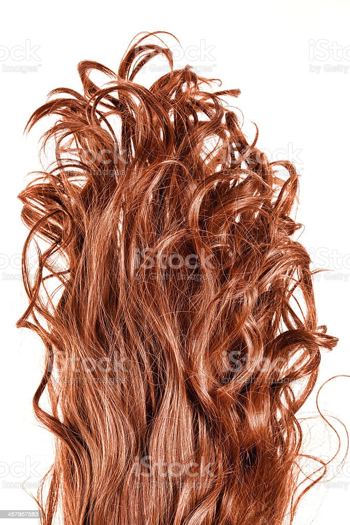 Upside down hair stock photo