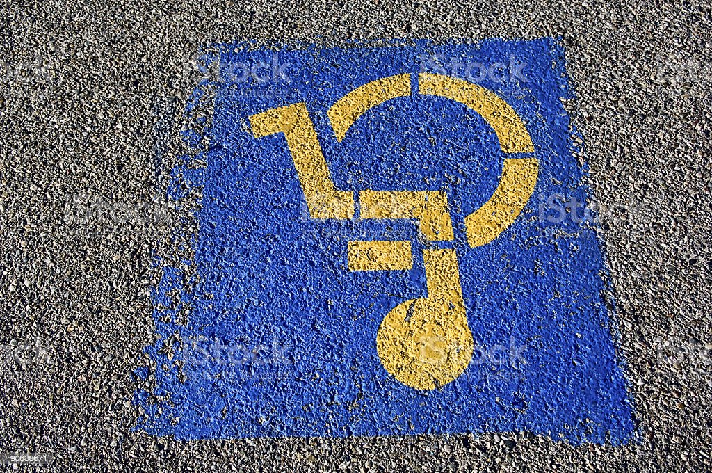 Upside Down Handicap Sign royalty-free stock photo