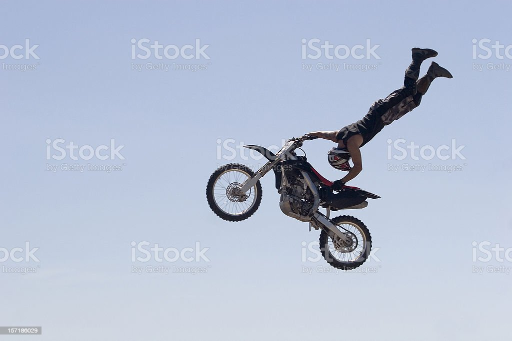Upside Down Jump stock photo