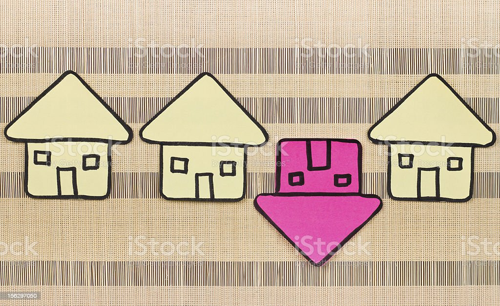 Upside down mortgage concept royalty-free stock photo