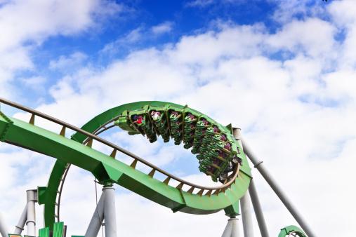 roller coaster seats at aumsement park