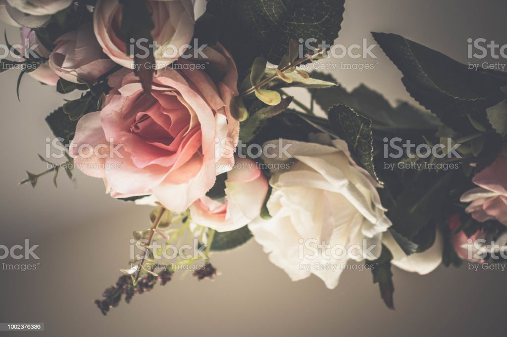 Upside Down Rose Wreath Stock Photo More Pictures Of Artificial