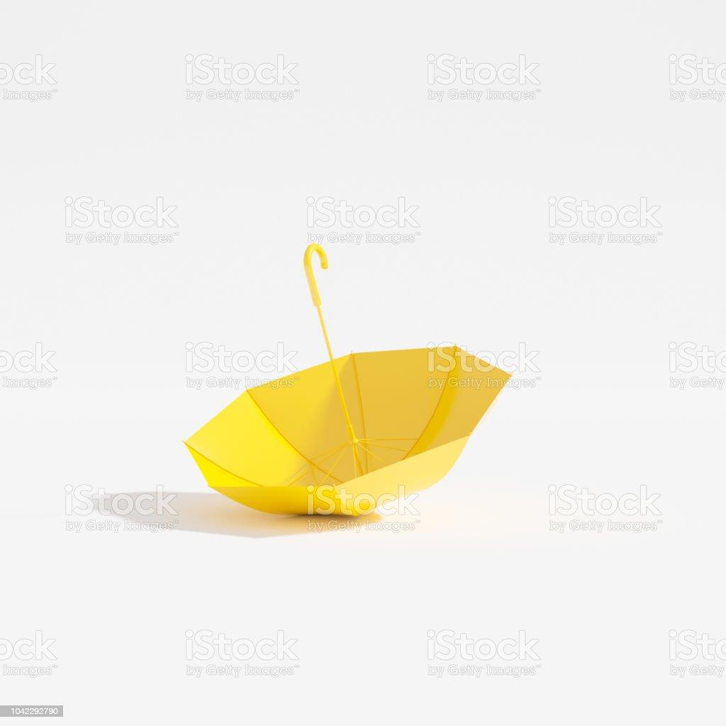 b8c0b8103d2ae Upside Down Yellow Umbrella Stock Photo - Download Image Now - iStock