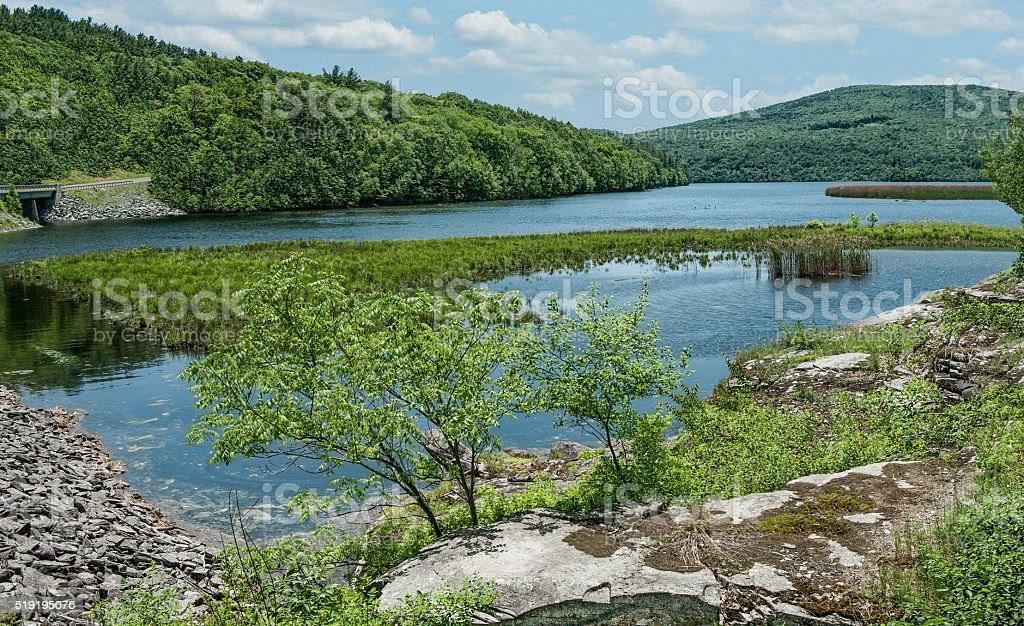 Upstate New York Reservoir stock photo